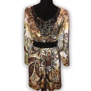 3/$30 Simply Emma long sleeve knee-high  XL dress